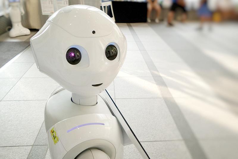 White toy robot