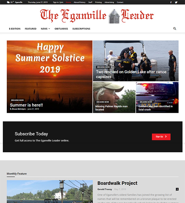 The Eganville Leader Website