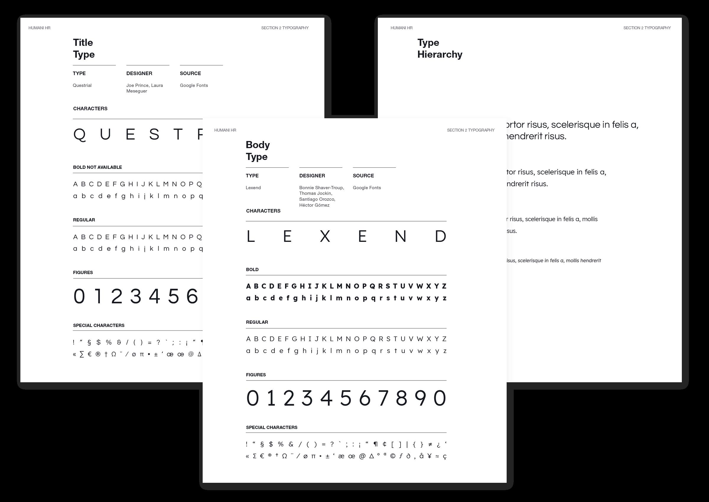 Humani Brand Fonts